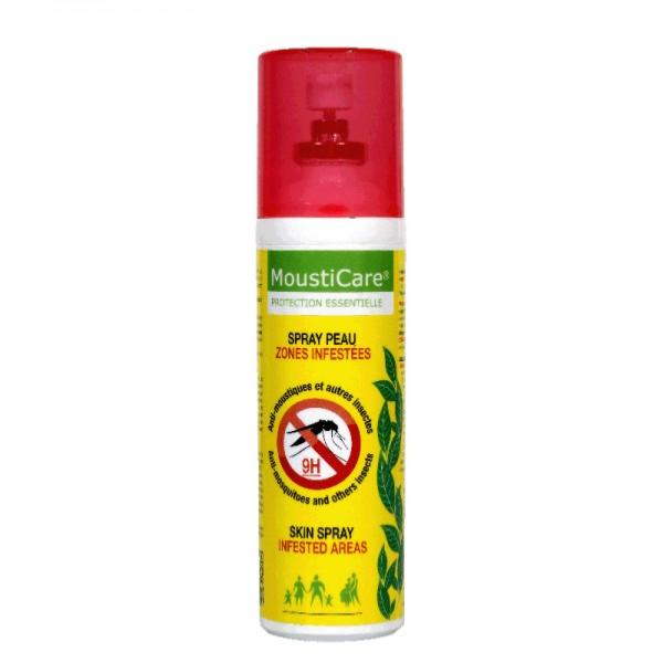 spray peau anti-moustiques zone infestee