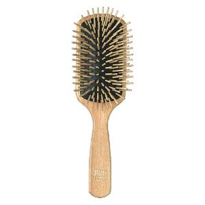 Grande brosse rectangulaire Frene naturel, Picots longs, TEK