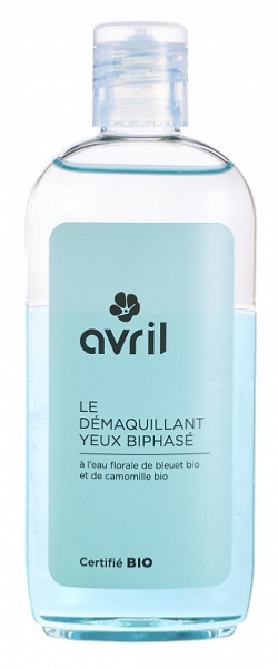 Démaquillant Yeux Biphasé Bio - flacon 150 ml AVRIL