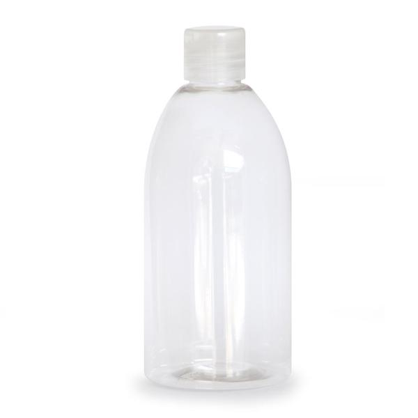Flacon transparent 500 ml avec capsule service