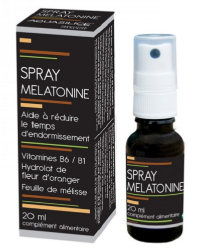 Spray melatonine 20 ml NutriVie - Aquasilice