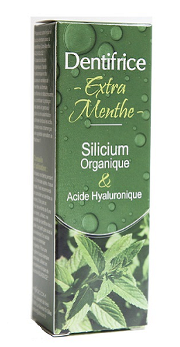 Dentifrice Extra Menthe, acide hyaluronique, Aquasilice