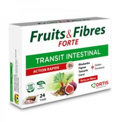 Fruits and Fibres Forte Action rapide - 24 cubes, Ortis