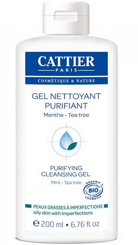 Gel nettoyant purifiant, 200 ml, Cattier