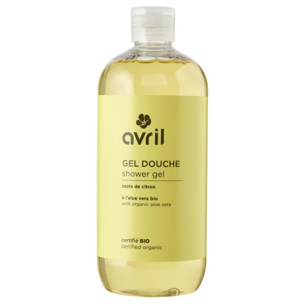 Gel douche Zeste de Citron bio, 500 ml - Avril