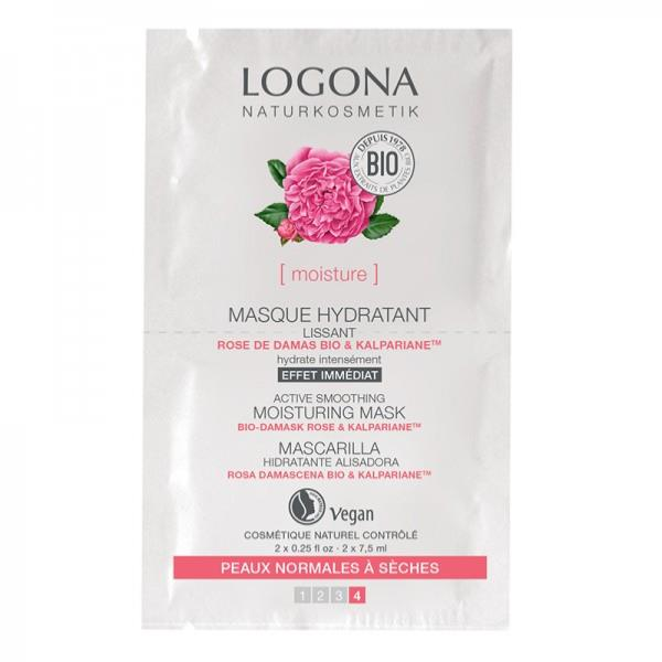 Lot de 2 masques lissant à la rose de damas bio - Logona